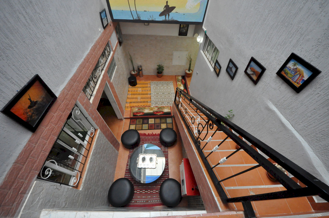 MAIN STAIRWELL HOLA SURF MOROCCO